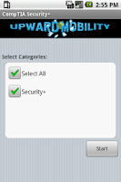 Screenshot of CompTIA Security+ Flashcards