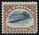 Inverted Jenny, position 15
