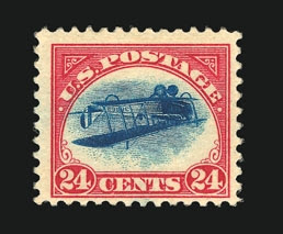 Inverted Jenny, position 19
