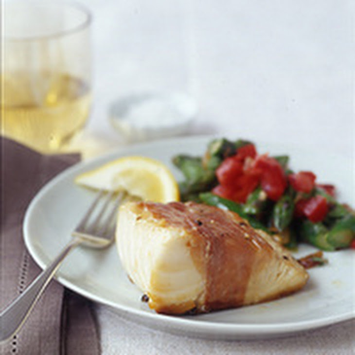 Crispy Prosciutto-Wrapped Cod and Asparagus Salad Recipe | Yummly
