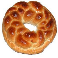 Romanian Cozonac  or Colac - a Christmas Bread