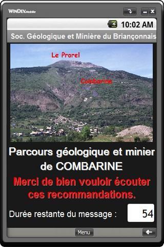 Site géologique de Combarine