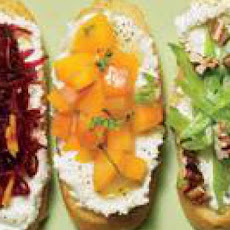 Spring Crostini (3 Ways) with Lemony Ricotta Spread