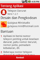 Screenshot of Telepon Darurat