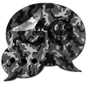 GO SMS Grey Camo Theme icon