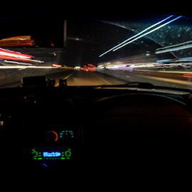 Make it so by Brian Box - Abstract Light Painting ( arkansas photographer, cars, driving, long exposure, night shot )