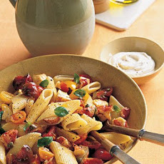 Pasta with Marinated Tomatoes and Lobster