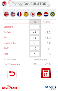 Energy Calculator (Cat & Dog)- screenshot thumbnail