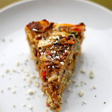 Sausage and Red Pepper Quiche