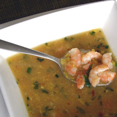 Spicy Sweetcorn and Shrimp Soup