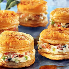 Crabmeat Canapes - Appetizers