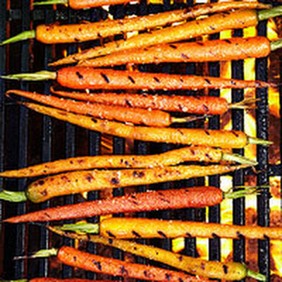 Grilled Carrots with Grapefruit-Cilantro Dressing