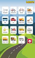 Screenshot of Kids Learning Vehicles