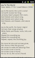 Screenshot of Christmas Hymnal