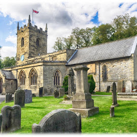 The Parish Church of St Lawrence, Eyam, Derbyshire by Chris Hall - Buildings & Architecture Places of Worship