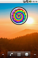 Screenshot of Psychedelic Clock