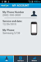 Screenshot of TracFone My Account