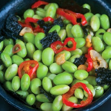 Ripe's Toasted Nori Edamame with Garlic-ChileOil