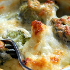 Broccoli and Cauliflower Gratin