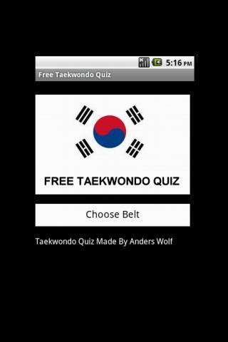 Free Taekwondo Quiz