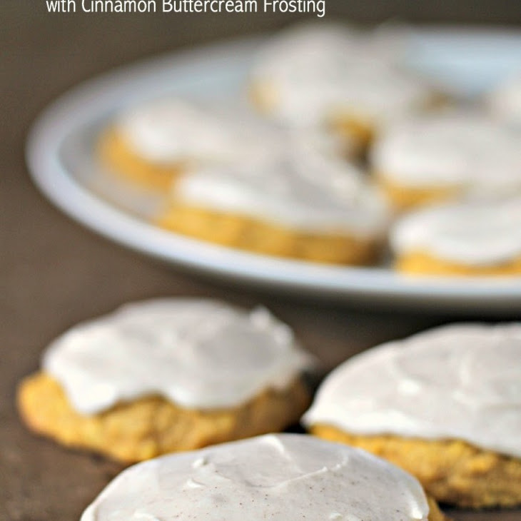 Soft Pumpkin Cookies with Cinnamon Buttercream Frosting Recipe ...