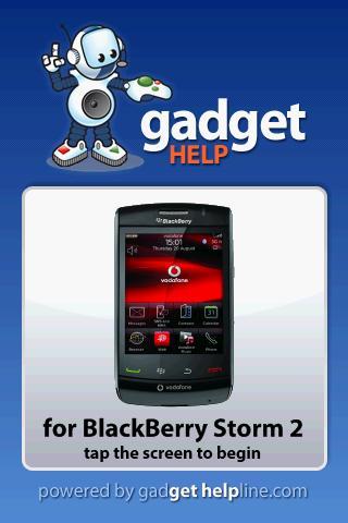 BlackBerry Storm2-Gadget Help