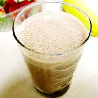 Chocolate Strawberry Banana Milkshake