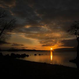 sunset at milarochy bay by Scott Muir - Landscapes Sunsets & Sunrises ( colourful, waterscape, sunset, landscape )