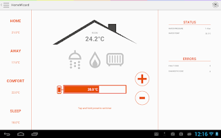 Screenshot of HomeWizard