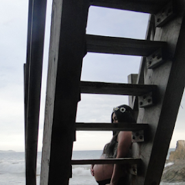 Expectations by Liz Rosas - People Maternity ( pregnant, couple, beach, baby, el matador state beach, expecting )