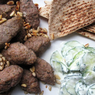 Kibbeh and Cucumber Salad