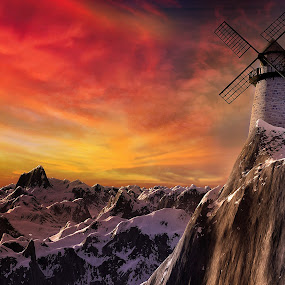 Mountain Mill [3D] by Jamie Keith - Illustration Sci Fi & Fantasy