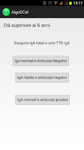 Algoritmo Diagnosi Celiachia - screenshot