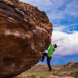 Bouldering in Moe's Valley 3 by Climb Globe - Sports & Fitness Climbing ( moe's valley, climbing, utah, rock, saint george, bouldering )