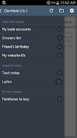 Screenshot of ClevNote