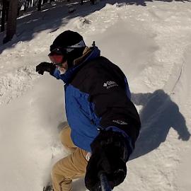 You Should Go Snowboarding by Steve Hansen - Sports & Fitness Snow Sports ( selfie, skiing, blue sky, mt spokane, gopro, blue bird day, powder day, snowboarding )