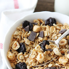 Hazelnut Granola with Dried Cherries and Dark Chocolate