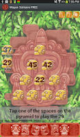 Screenshot of Mayan Solitaire card game FREE