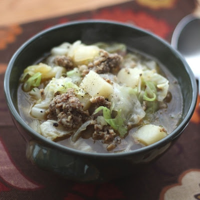 Cabbage, Potato and Sausage Soup