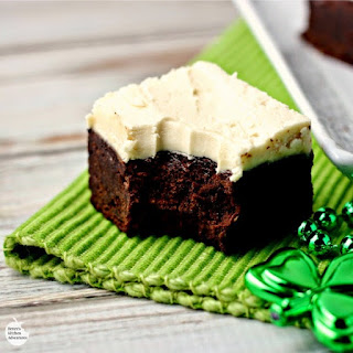 Guinness Brownies with Maple Buttercream Frosting