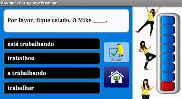 Screenshot of Portuguese Grammar Free