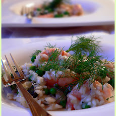 Shrimp Spring Risotto