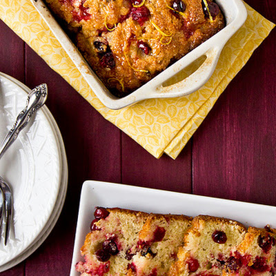 Glazed Lemon-Cranberry Loaf Cake