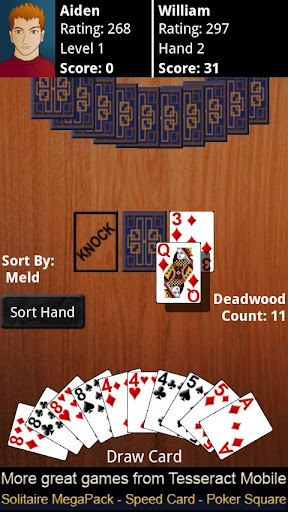 gin-rummy for android screenshot