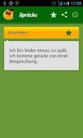Screenshot of Sprüche zu jedem Anlass
