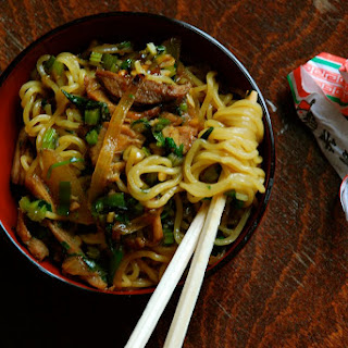 Shredded Pork and Chinese Celery Lo Mein
