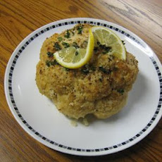 Roasted Parmesan Cauliflower with Lemon Thyme