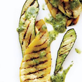 Grilled Zucchini with Buttermilk-Basil Dressing