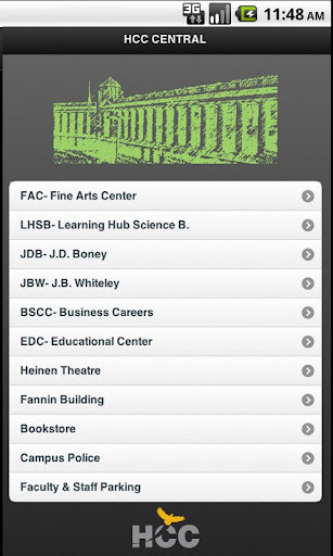 HCC Central Campus Map