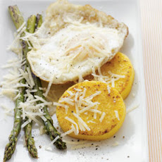 Polenta Fritters with Asparagus & Eggs
